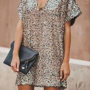 Sequin Tunic Short Dress